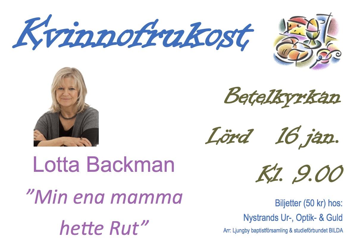 Kvinnofrukost Lotta Backman A3